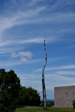 One Hundred Foot Line by Roxy Paine at Nepean Point, Ottawa Stock Photos