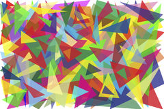 One hundred multi-colored triangles Royalty Free Stock Images