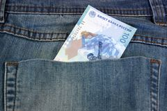 One hundred new Olympic rubles in his pocket Stock Images