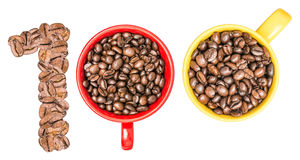 One Hundred Number Coffee Concept Stock Images