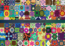 One hundred patterns background Stock Photography