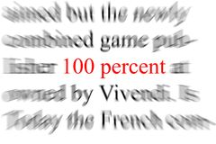 One hundred percent. Abstract blurry image of the words one hundred percent Royalty Free Stock Photos