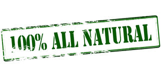One hundred percent all natural Royalty Free Stock Images