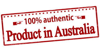 One hundred percent authentic product in Australia Stock Image