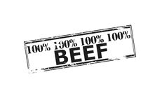 One hundred percent beef Stock Photos