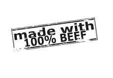 One hundred percent beef Royalty Free Stock Image