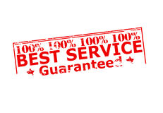 One hundred percent best service Stock Image
