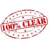 One hundred percent clear Stock Photos