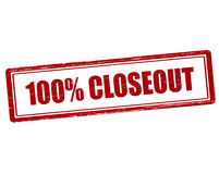 One hundred percent closeout Royalty Free Stock Images