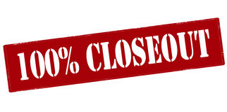 One hundred percent closeout Stock Images