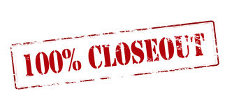 One hundred percent closeout Royalty Free Stock Photos