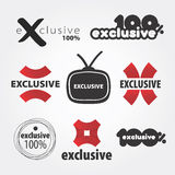 Exclusive  logos. One hundred percent exclusive  logo Royalty Free Stock Images