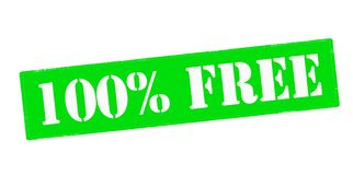 One hundred percent free. Rubber stamp with text one hundred percent free inside,  illustration Royalty Free Stock Image