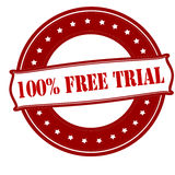 One hundred percent free trial Royalty Free Stock Image