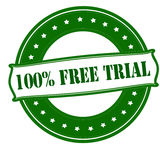 One hundred percent free trial Stock Photo