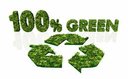 One hundred percent green and recyclable Royalty Free Stock Photo