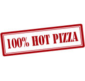 One hundred percent hot pizza Royalty Free Stock Images