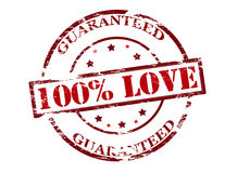 One hundred percent love guaranteed Stock Images