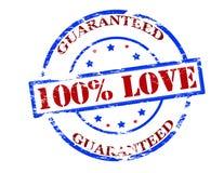 One hundred percent love guaranteed Royalty Free Stock Photo