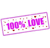One hundred percent love Royalty Free Stock Image