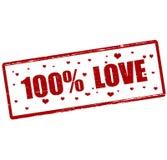 One hundred percent love Stock Image