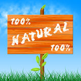 One Hundred Percent Means Organic Completely And Environment Stock Photography