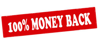 One hundred percent money back Stock Photo