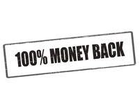 One hundred percent money back Royalty Free Stock Photo