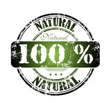 One hundred percent natural vector illustration