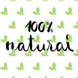 One hundred percent natural design Royalty Free Stock Photo