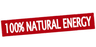 One hundred percent natural energy Royalty Free Stock Photo