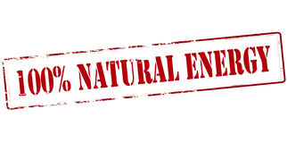 One hundred percent natural energy Stock Images