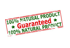One hundred percent natural product guaranteed Royalty Free Stock Photo