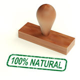 One Hundred Percent Natural Rubber Stamp Royalty Free Stock Image