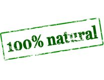 One hundred percent natural Royalty Free Stock Photos