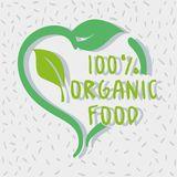 One hundred percent organic food message. Vector illustration Royalty Free Stock Photos