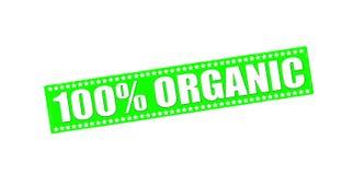 One hundred percent organic Stock Photography