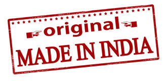 One hundred percent original made in India Stock Photo