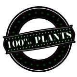 One hundred percent plants Royalty Free Stock Image