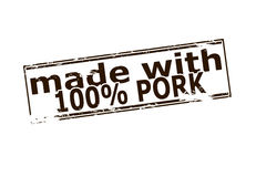 One hundred percent pork Stock Photography