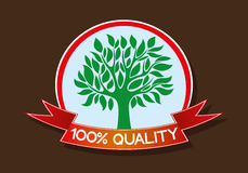 One hundred percent quality. Vector sign. One hundred percent quality. Tree Royalty Free Illustration