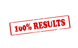 One hundred percent results Stock Image