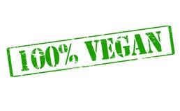 One hundred percent vegan Stock Image