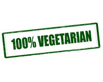 One hundred percent vegetarian Stock Photography