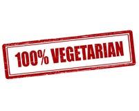 One hundred percent vegetarian Royalty Free Stock Photos