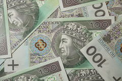 One hundred polish zloty money Royalty Free Stock Photos
