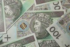 One hundred polish zloty money Royalty Free Stock Photos
