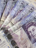 One hundred pounds. In twenty pound notes Stock Photography