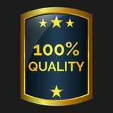 One hundred quality label Stock Image