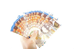 One hundred shekel bank notes . Royalty Free Stock Image